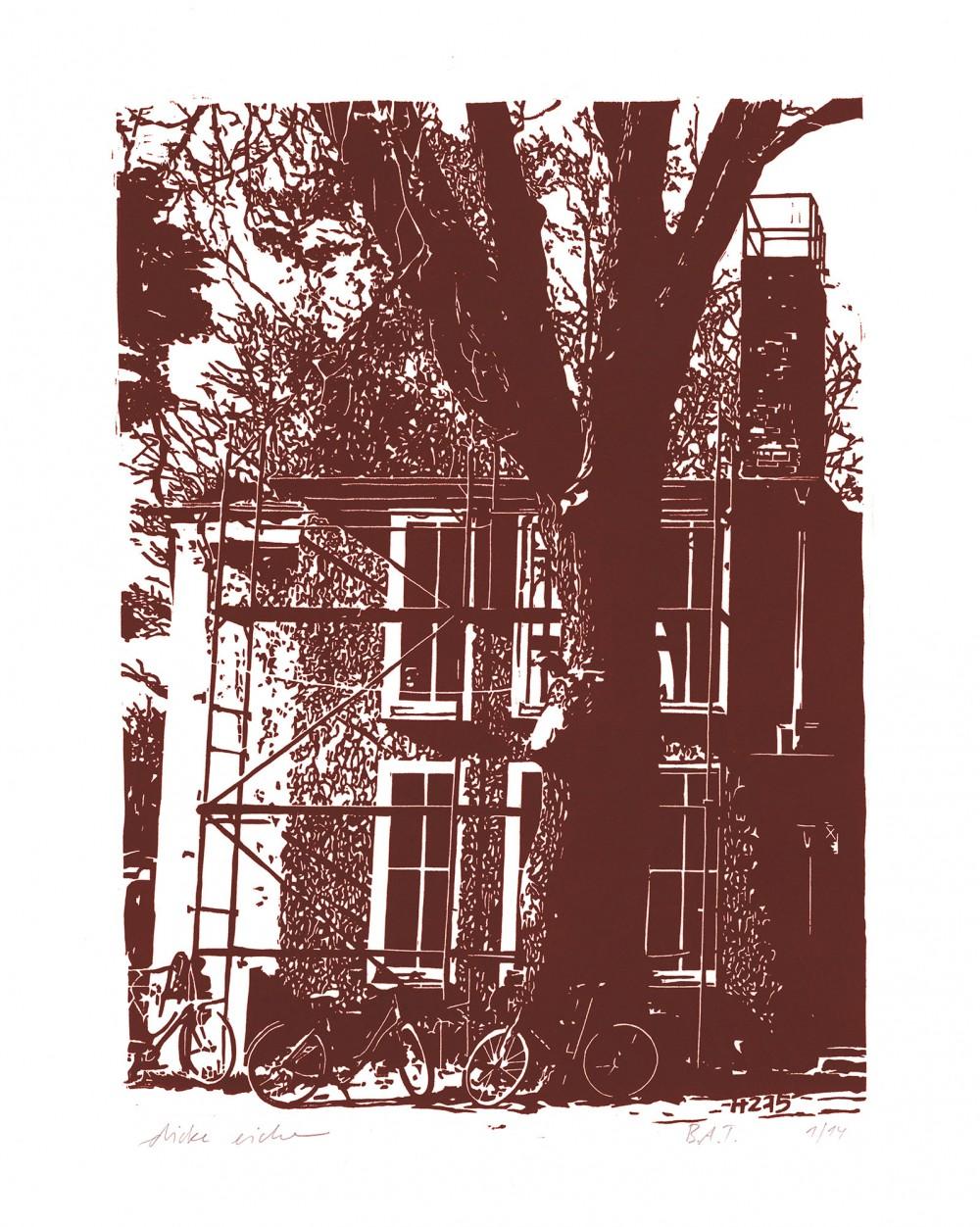 Linolschnitt 47,5 x 62 cm